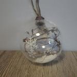 Glazen kerstbal, landelijke decoratie, kerstdecoratie, kerstballen