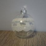 Kerstbal van glas, landelijke decoratie, kerstbal, kerstballen, kerstdecoratie