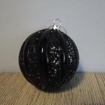 Zwarte kerstbal ,landelijke decoratie, kerstballen