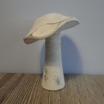 Witte paddenstoel, landelijke decoratie