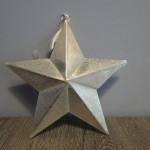 IJzeren ster, landelijke decoratie, sterren, kerstdecoratie