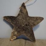 Ster van boomschors, sterren, kerstdecoratie, landelijke decoratie