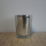 Crackle zilver, 6 cm, landelijke decoratie, windlicht, waxinelicht