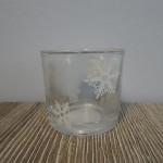 Waxineglas sneeuwster, landelijke decoratie