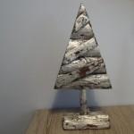 Kerstboom zilver, landelijke decoratie